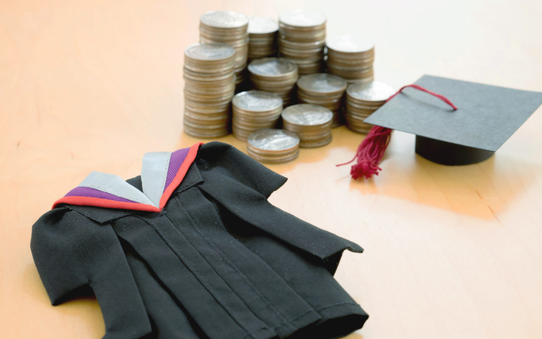 Miniature Graduation Robe and Cap Along With Coins